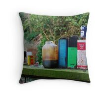 stuff on a wall Throw Pillow