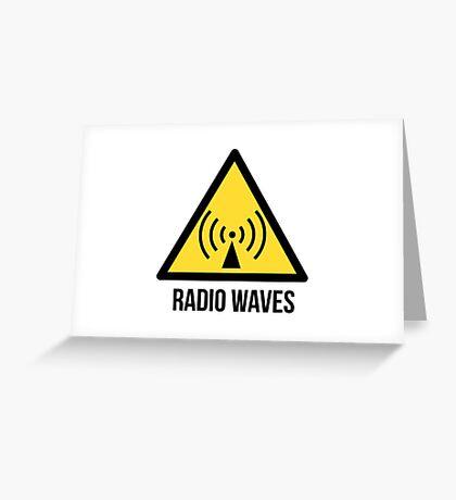 Radio waves hazard sign. Danger. Caution symbol. Greeting Card