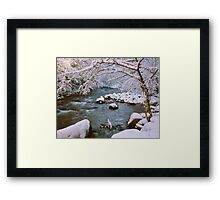 WINTER STREAM Framed Print