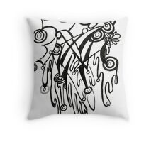 blood and bubbles Throw Pillow