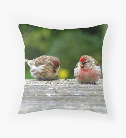 His & Hers! - Redpoll - NZ - Southland Throw Pillow