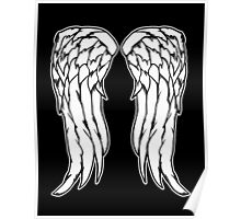 Daryl Dixon Angel Wings - The Walking Dead Poster