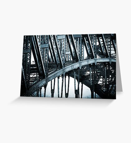 Big Blue Bridge Greeting Card