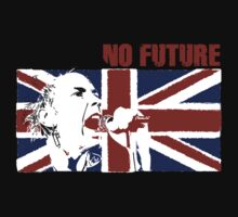 No Future - Sex Pistols - Johnny Rotten (Union Jack Design) T-Shirt