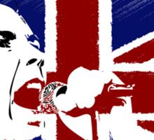 No Future - Sex Pistols - Johnny Rotten (Union Jack Design) Sticker