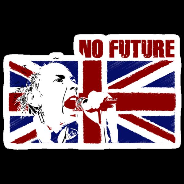 No Future - Sex Pistols - Johnny Rotten (Union Jack Design) by Mark Wilson