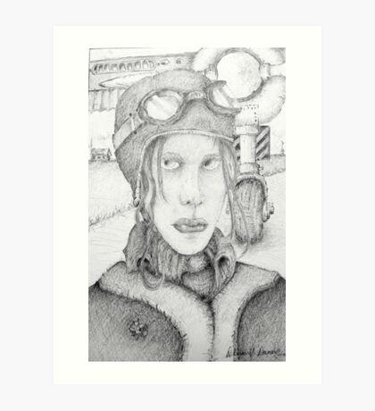 BW Amelia ? Art Print