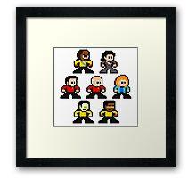 8-bit ST:TNG Framed Print