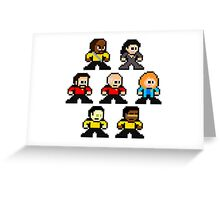 8-bit ST:TNG Greeting Card