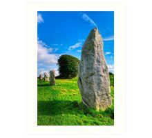 Avebury Standing Stones In The Sun Art Print