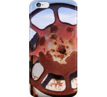 Rusty Railroad Wheel iPhone Case/Skin
