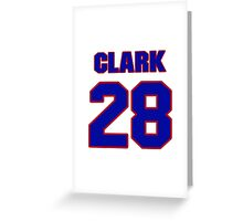 National football player Bret Clark jersey 28 Greeting Card