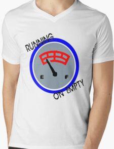 RUNNING ON EMPTY Mens V-Neck T-Shirt
