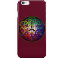 flower of life (spectral) iPhone Case/Skin