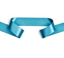 Pastel Blue streamer ribbon  by PhotoStock-Isra