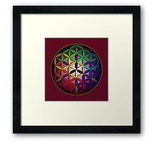 flower of life (spectral) Framed Print