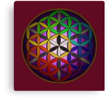 flower of life (spectral) Canvas Print
