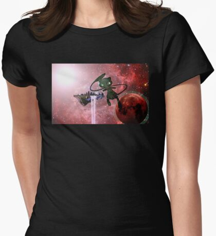 Attack on Mew Womens Fitted T-Shirt