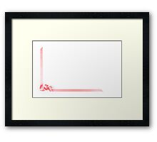 Pink streamer ribbon Framed Print