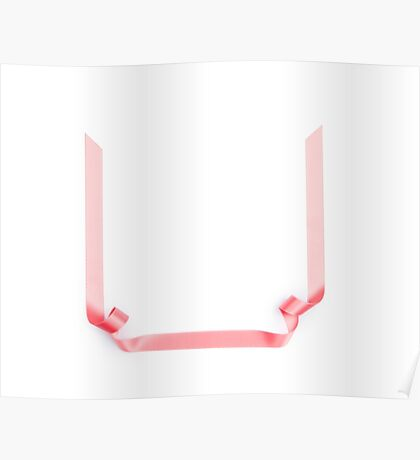 Pink streamer ribbon Poster