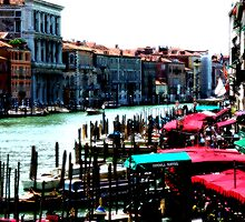 Canal grandee Venice Italy by fuxart