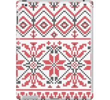 Red and Black Knitting Pattern 3 iPad Case/Skin