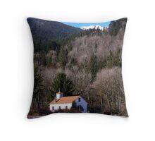 Cascade Mountain Church Throw Pillow
