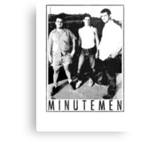 Minutemen - Light Shirts/Totes/Stickers/Pillows! Canvas Print