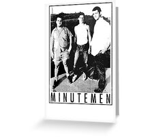 Minutemen - Light Shirts/Totes/Stickers/Pillows! Greeting Card