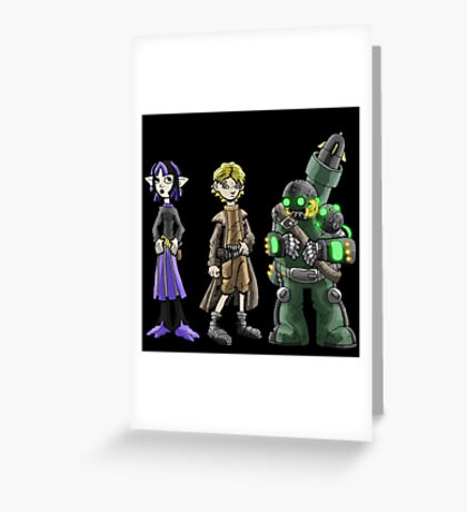 bounty hunters: kid posse... Greeting Card