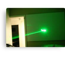 Green Laser Canvas Print