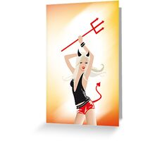a she devil stole his heart Greeting Card