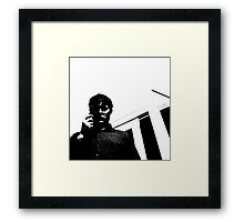 portrait bw Framed Print