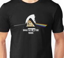 Doge side of the moon - Such WOW - (for dark background) Unisex T-Shirt