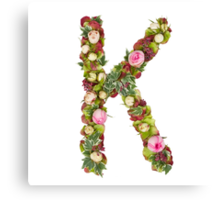 Capital Letter K Part of a set of letters, Numbers and symbols  Canvas Print
