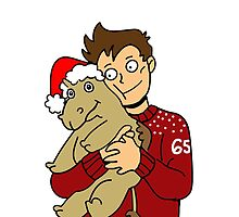 Shaw and Mr. Christmas Camel (no text) by seabsbiscuit