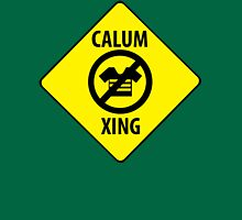 Calum XING (Crossing Sign) -No Clothes Womens Fitted T-Shirt
