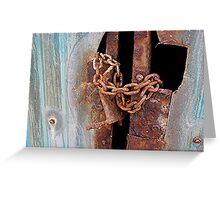 Rusty chains Greeting Card