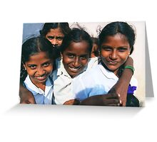 Young people of India Greeting Card