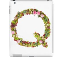 Capital Letter Q Part of a set of letters, Numbers and symbols iPad Case/Skin