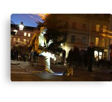 Street performer in Bath UK Canvas Print