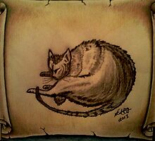 THE SLEEPING CAT  by NEIL STUART COFFEY