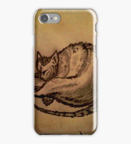 THE SLEEPING CAT  iPhone Case/Skin