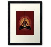receiving light (meditator) Framed Print