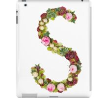 Capital Letter S Part of a set of letters, Numbers and symbols iPad Case/Skin