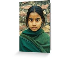 Girl in the green shawl Greeting Card