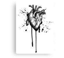Sketch Heart Canvas Print