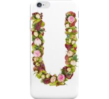 Capital Letter U Part of a set of letters, Numbers and symbols iPhone Case/Skin
