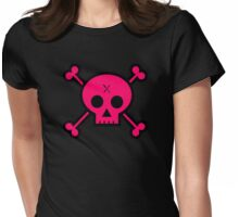 Punk Skull Womens Fitted T-Shirt