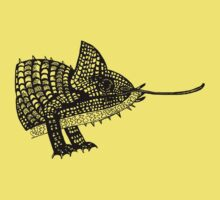 Chameleon Lizard T-Shirt Illustration / design / drawing. by CDCcreative